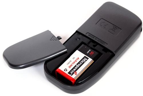 Алкотестер питается от стандартной батарейки типа