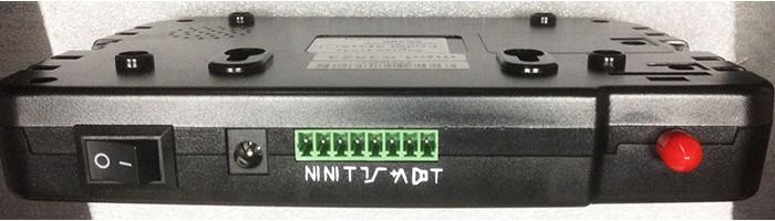 Проводные датчики подсоединяются к разъемам, расположенным на одном из торцов центрального блока