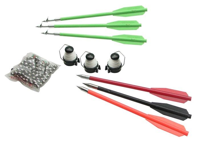 Аксессуары, входящие в комплект поставки: гарпуны, дротики, стальные шарики и катушки