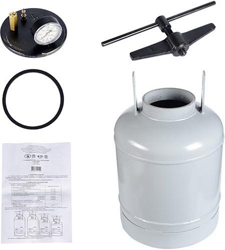 Комплект поставки автоклава-стерилизатора (нажмите на изображение, чтобы увеличить)