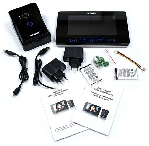 """В комплекте поставки беспроводного видеодомофона SITITEK """"Grand Touch II"""" Вы найдете все, что нужно для его установки"""