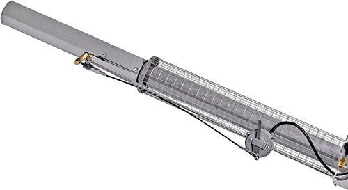 Греющиеся части распылителя защищены металлической решеткой, предохраняющей оператора от случайного прикосновения (нажмите, чтобы увеличить)