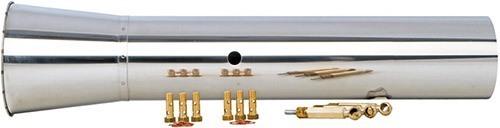 Прибор комплектуется специальной выхлопной трубой для распыления растворов на водной основе и набором форсунок (нажмите, чтобы увеличить)