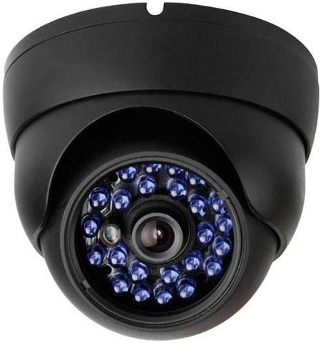 Купольная камера крепится к любой гладкой поверхности, в т.ч. на потолок, что актуально для офисов и ресторанов, где важно не испортить интерьер
