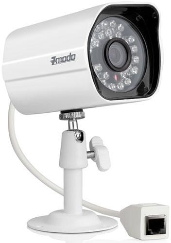 """Камеры из видеокомплекта """"Zmodo PoE 1"""" соединяются с регистратором посредством сетевого кабеля через разъем RJ45, что обеспечивает высокую надежность связи"""