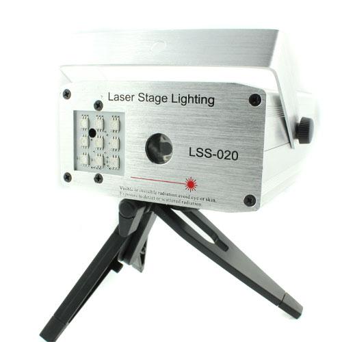 """Светодиоды могут включаться отдельно и создавать фон для лазерного рисунка.  Модель цветомузыки  """"LSS-020 """" также..."""