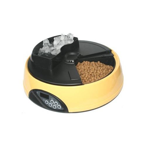 """Автокормушка для кошек и собак """"Feed-Ex PF1 Yellow"""" с ЖК дисплеем и емкостью для льда"""