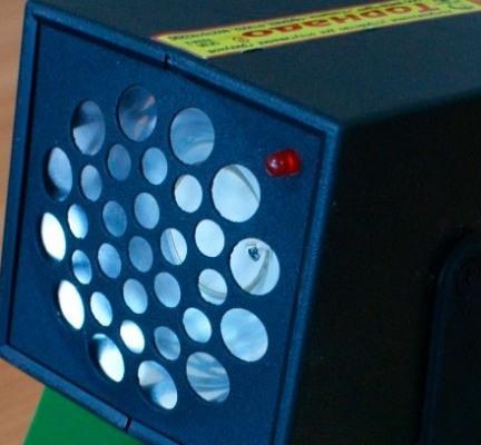 """Светодиодный индикатор указывает на рабочее состояние отпугивателя грызунов """"Торнадо 800"""""""