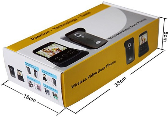 """Коробка, в которой поставляется комплект беспроводного видеодомофона """"KIVOS"""""""
