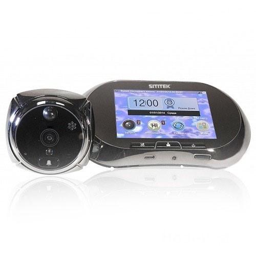 """Беспроводной видеоглазок """"SITITEK GSM"""" с монитором, записью и датчиком движения"""