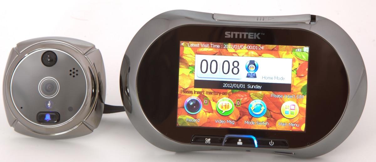 """Видеоглазок """"SITITEK GSM"""" состоит из двух модулей - внутреннего и внешнего"""