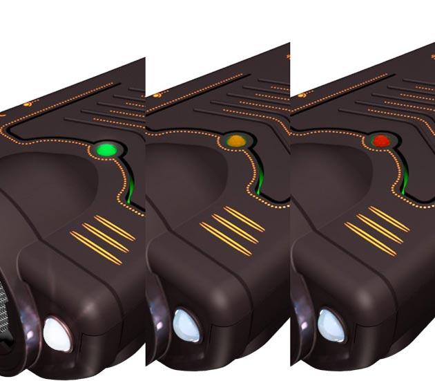 Трехцветный контроль уровня заряда аккумулятора