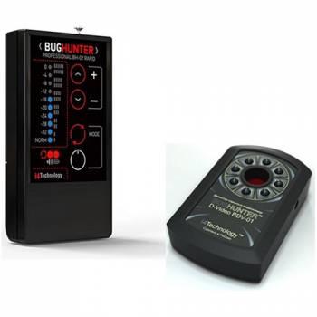 Детектор жучков BugHunter BH-02 Rapid + Обнаружитель скрытых камер BugHunter Dvideo Эконом