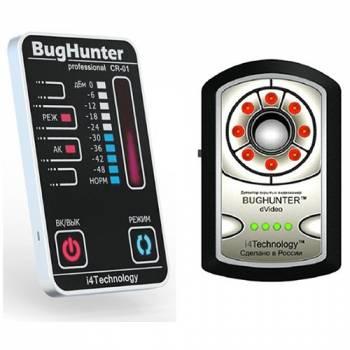 Детектор жучков BugHunter CR-01 + Обнаружитель скрытых камер BugHunter Dvideo Professional