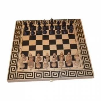 Шахматный набор Древняя Греция 3 в 1 (шахматы, шашки, нарды), бук