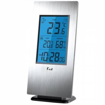 Термогигрометр Ea2 Al802 Aluminium с беспроводным датчиком