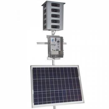 Биоакустический отпугиватель птиц Mega Blaster PRO с 20 выносными динамиками и солнечной панелью
