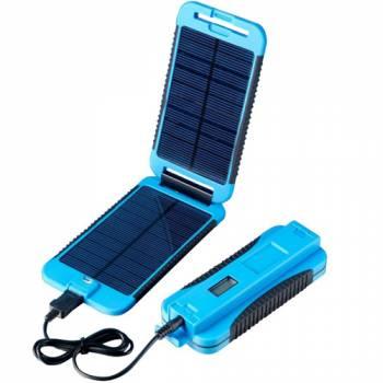 Универсальное зарядное устройство на солнечной батарее PowerTraveller PowerMonkey Extreme Blue