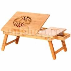 """Бамбуковый столик для ноутбука """"SITITEK Bamboo 1"""" с активной системой охлаждения (1 вентилятор)"""