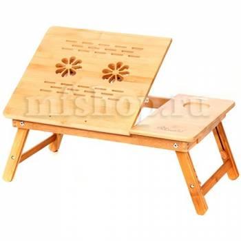 """Бамбуковый столик для ноутбука """"SITITEK Bamboo 2"""" с активной системой охлаждения (2 вентилятора)"""