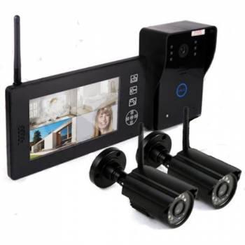 Беспроводной видеодомофон «Skynet VD-802» 2 камеры