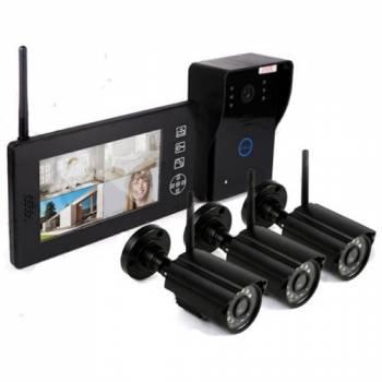 Беспроводной видеодомофон «Skynet VD-803» 3 камеры