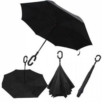 Зонт обратный Up-brella черный
