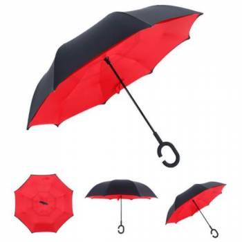 Зонт наоборот Up-brella красный