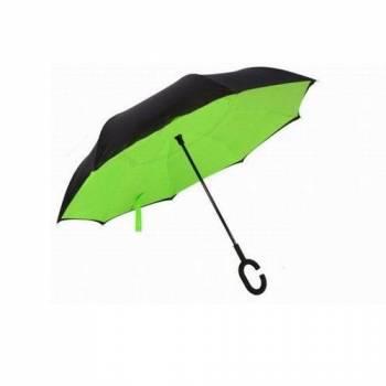 Зонт наоборот Up-brella салатовый