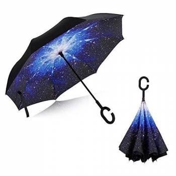 Зонт наоборот Up-brella (звездное небо)
