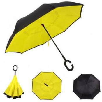 Зонт наоборот Up-brella желтый