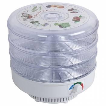 Сушилка для фруктов, овощей и грибов Ветерок (3 поддона) прозрачная