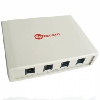 Система регистрации и записи разговоров SpRecord A4 по четырем аналоговым телефонным линиям