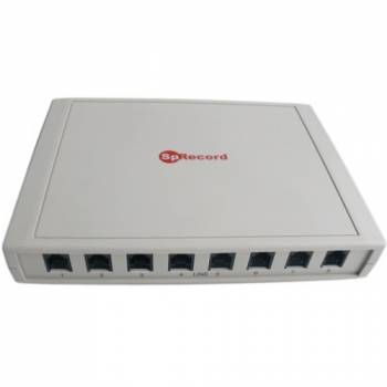 Система регистрации и записи переговоров SpRecord A8 по восьми аналоговым телефонным линиям