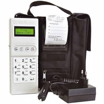 Профессиональный цифровой алкотестер АКПЭ-01М Мета с внешним мини-принтером
