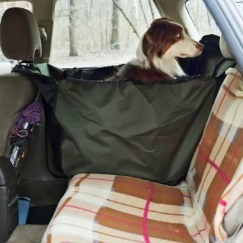 Автогамак для перевозки собак в машине OSSO Car Premium 135x50 Grey на 1/3 заднего сидения автомобиля