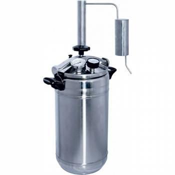 Бытовой автоклав + самогонный аппарат Домашний погребок 2 в 1 Классик 22 л. для домашнего консервирования и самогоноварения