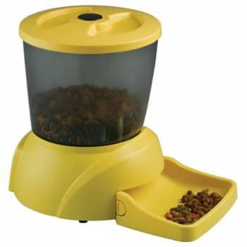 Автоматическая кормушка для кошек и мелких пород собак Feed-Ex PF7 Yellow (Улучшенная версия Feed-Ex PF3)