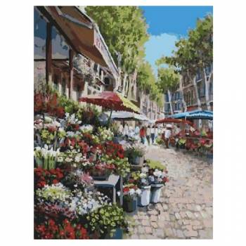 Картина по номерам Цветочный рынок размер 40x50 (арт. GX3450)