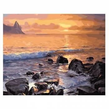 Картина по номерам Каменистый берег моря размер 40x50 (арт. GX5749)