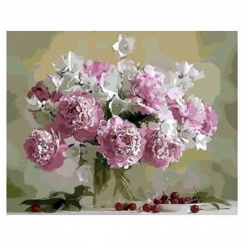 Картина по номерам Натюрморт в розовых тонах размер 40x50 (арт. GX8744)