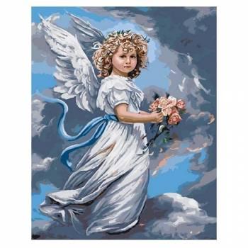 Картина по номерам Небесный ангел размер 40x50 (арт. GX3232)