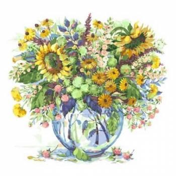 Картина по номерам Подсолнухи в вазе размер 40x50 (арт. MG2062)