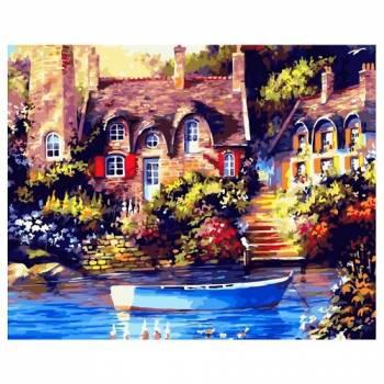 Картина по номерам Причал у дома размер 40x50 (арт. GX21502)