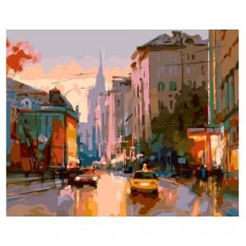 Картина по номерам Улица Поварская размер 40x50 (арт. MG2042)