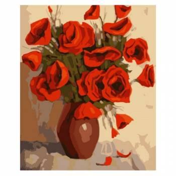 Картина по номерам Ваза с розами размер 30x40 (арт. ME1023)