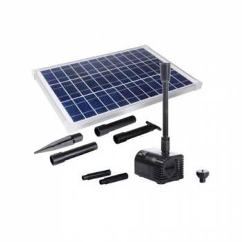 Садовый фонтан Ocean 20W LED с солнечной панелью, аккумулятором и подсветкой