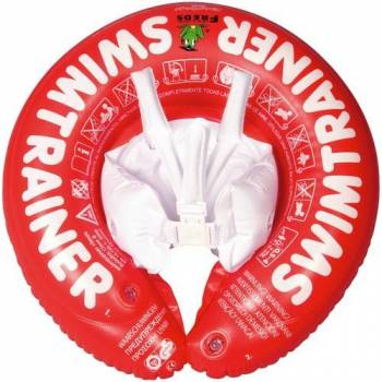 Надувной круг для плавания детей от 3 месяцев SwimTrainer красный