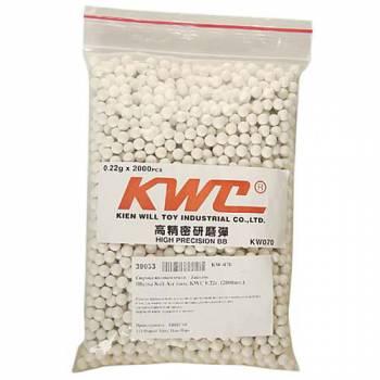 Шары Soft Air 6мм. KWC 0.22г. (2000шт.)
