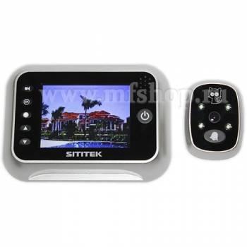 Беспроводной дверной видеоглазок SITITEK Simple с монитором 3,5 и записью (снят с продаж)